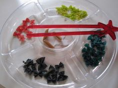 Sorting from a sensory tub