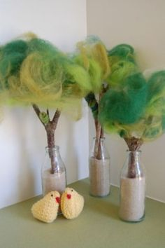 8. Story Props: Wool Fleece Trees - Parenting Fun Every Day