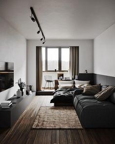 Modern apartment in Kyiv, Ukraine by @ dubrovska. Design Loft, Loft Interior Design, Home Room Design, Living Room Designs, Living Spaces, House Design, Dog Spaces, Interior Designing, Appartement Design