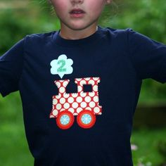 Birthday Train Toddler and Kids Tshirt by planetpudge on Etsy, $28.00