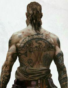 Baldur God Of War Hand Tattoos - Anime Weapons Viking Rune Tattoo, Norse Tattoo, Viking Runes, Viking Tattoos, Ancient Tattoo, Vikings, Kratos God Of War, God Tattoos, War Tattoo