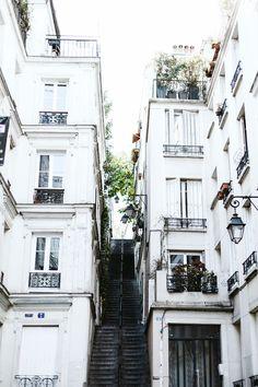 stairway between buildings, paris, france Paris Travel, France Travel, Beautiful Places To Visit, Life Is Beautiful, Places To Travel, Places To Go, Travel Destinations, Beautiful Buildings, Best Cities