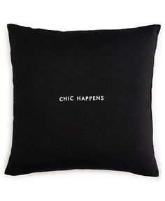 """kate spade new york Chic Happens 18"""" Square Decorative Pillow"""