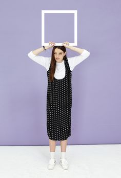 Polka Scoop Midi Dress Black http://www.thewhitepepper.com/collections/new-in/products/polka-scoop-midi-dress-black Indian Cut-Out Brogues White http://www.thewhitepepper.com/collections/new-in/products/indian-cut-out-brogue-white