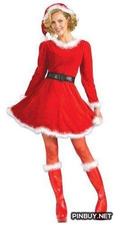 4e9338e6574 Mrs. Claus Christmas Costume - PinBuy Mrs Claus Dress