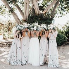 Mu maids #mumuweddings | neutral bridesmaids