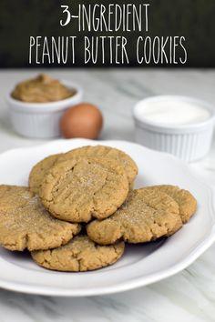 Peanut Butter Cookies Using 3 Ingredients - Eggs, Sugar & PB