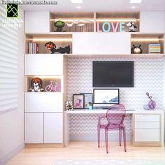 Amazy Modern Minimalist Living Room Design Ideas for Inspiration Study Room Design, Study Room Decor, Home Room Design, Kids Room Design, Home Office Design, Home Office Decor, Kids Bedroom Designs, Living Room Designs, Small Room Bedroom