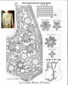 Irish Crochet - sleeveless veste 4/4