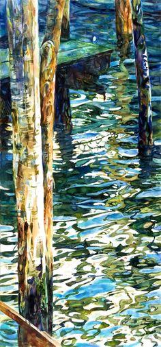 """Saatchi Online Artist: stephen zhang; Watercolor, Painting """"Venice Alleys No. 5"""""""
