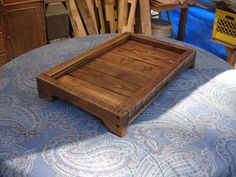 Primitive Wood Tray, primitive home decor , wooden Tray, crate, wood serving tray 119