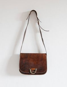 made in italy vintage leather bag by boiledegg on Etsy, $66.00