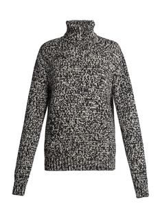 Click here to buy Saint Laurent High-neck melange sweater at MATCHESFASHION.COM