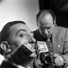 The great photographer Philippe Halsman was born 110 years ago today, May 2, 1906. He photographed 101 covers for LIFE magazine. Pictured here with his frequent collaborator, Salvador Dali in 1954. (Yale Joel—The LIFE Picture Collection/Getty Images)...
