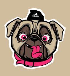 #graphic #design #Illustration #Illustrator #Beautiful #Colors #GraphicDesign #Artist  #adobeillustrator #creativity #vector #vectorart #art  #inspiration #digital #adobe #creative #dog #pug #myart