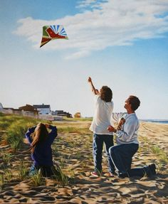 Catching The Wind by Tom Sierak on ARTwanted I spend a lot of time at the beach and often come across moments like this. Of course, the vibrancy of the late afternoon colors only serve to enhance an already special moment.