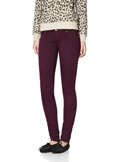 Velvet Burgundy Jegging - Wish I had those legs! Garage Clothing, Out Of The Closet, Trousers, Pants, My Wardrobe, Jeggings, Latest Trends, Burgundy, Black Jeans