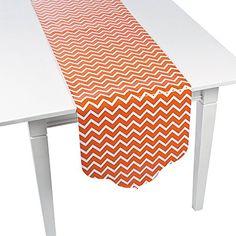 Orange Chevron & Polka Dot Table Runner - 90
