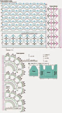 Bolero muy delicado para tejer con ganchillo | Crochet y Dos agujas