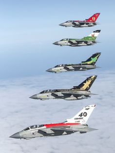Pack em, Rack em, and Stack em. Corporal Robert Travis – RAF Odiham Twitter icon Facebook icon Air-to-air photo chase of five Tornado GR4 aircraft displaying commemorative paint scheme tail-art. The Tornado Squadrons were based at RAF Marham and RAF Lossiemouth.