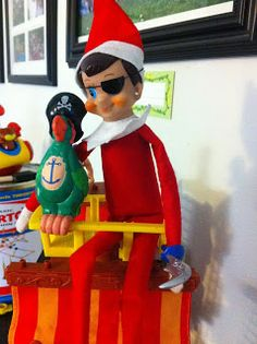Pirate elf with earring! Elf on the Shelf ideas #elfontheshelf