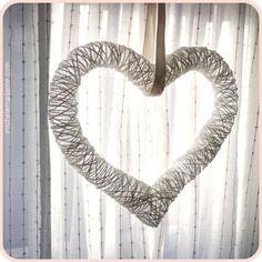 Balloon And Yarn Heart Wreath