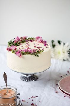 Rose Rhubarb Layer Cake - this just looks divine and must taste amazing - not too sweet which is what I love.