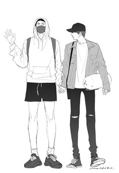 Namjin, Anime Drawings Sketches, Bts Drawings, V Chibi, V Bts Wallpaper, Fashion Design Drawings, Guy Drawing, Bts Aesthetic Pictures, Kpop Fanart