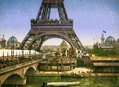 Eiffel Tower at World's Fair 1900
