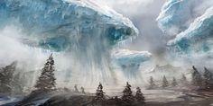 Floating Glaciers
