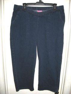 78cf96ba Lee Womens Jeans 22W Plus Size Blue Denim Cotton Blend Elastic Waist   eBay