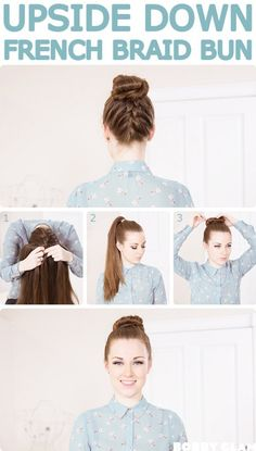 Because you're probably getting your hair off your neck everyday, try this pretty variation on your go-to top knot to mix things up!