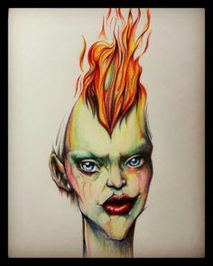 Halloween Face Makeup, Fictional Characters, Art, Drawings, Art Background, Kunst, Gcse Art, Fantasy Characters