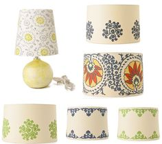 stencil and paint, new easy lampshade!