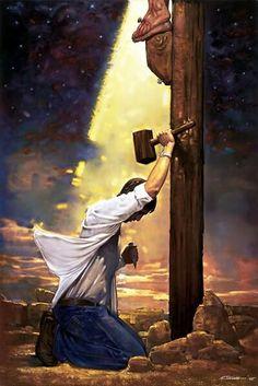 .. era o meu pecado que penduraram na cruz ... Ele morreu por mim porque Ele me ama ...