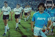 PAOK FC vs SSC Napoli | Diego Armando Maradona Franco |(1988) Diego Armando, School Football, Embedded Image Permalink, Old School, Baseball Cards, Running, Sports, Greece, Thessaloniki