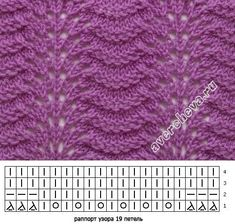 Lace knitting pattern Old Shell variation: again, pla Lace knitting pattern Old Shell variation: again, pla strickmuster Lace Knitting Stitches, Lace Knitting Patterns, Knitting Charts, Lace Patterns, Baby Knitting, Stitch Patterns, Knitting Tutorials, Loom Knitting, Free Knitting