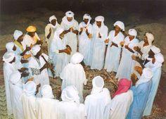 Sufi Taifas(Mystical Brotherhoods) called the Ahellil Troubadours of Southern Algeria,Timimoun/Gourara region North Africa.