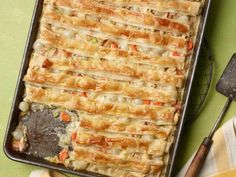 One of the best dishes of all time//All-Crust Sheet Pan Chicken Pot Pie By Food Network Kitchen Pie Recipes, Chicken Recipes, Cooking Recipes, Batch Cooking, Pan Cooking, Dinner Recipes, Chicken Pan Pie Recipe, Baked Chicken, Easy Recipes
