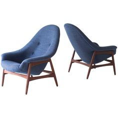 Hans Olsen Lounge Chair for Bramin | From a unique collection of antique and modern lounge chairs at https://www.1stdibs.com/furniture/seating/lounge-chairs/