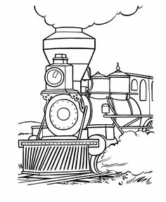 These Free Printable Train Coloring Sheets And Pictures Are Fun For Kids Locomotive Page