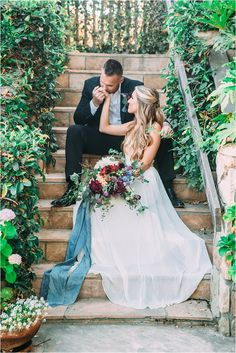 Watercolor Wedding Inspiration at Tres Lagos by MeghanElise Photography
