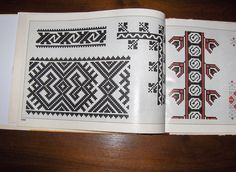Romanian embroidery patterns /Modele de cusaturi romanesti Floral Embroidery Patterns, Folk Embroidery, Beading Patterns, Print Patterns, Knitting Patterns, Bargello Needlepoint, Crochet Books, Cross Stitch Designs, Traditional Design