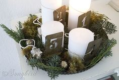 Non-traditional Advent wreath!
