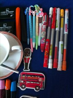 Pencils And pens.