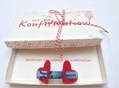 Geschenkbox zur Konfirmation von Kunst & Text auf DaWanda.com