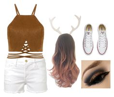 """""""Halloween Deer Costume"""" by katelyn-sours-shrieve on Polyvore featuring Frame Denim, Softheads and Converse"""