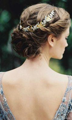 accessoires cheveux coiffure mariage chignon mariée bohème romantique retro, BIJOUX MARIAGE (4)
