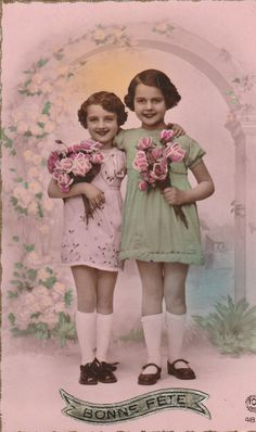 Cynthia & Mary~two loving sisters, one who was strong and protective, one who was little and cried without her protective sibling...