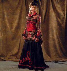 M6911 Misses' Bolero & Corset & Skirt & Overskirt | Victorian Costume